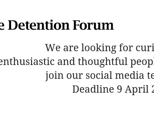 Join the Detention Forum team! Call for social media volunteers